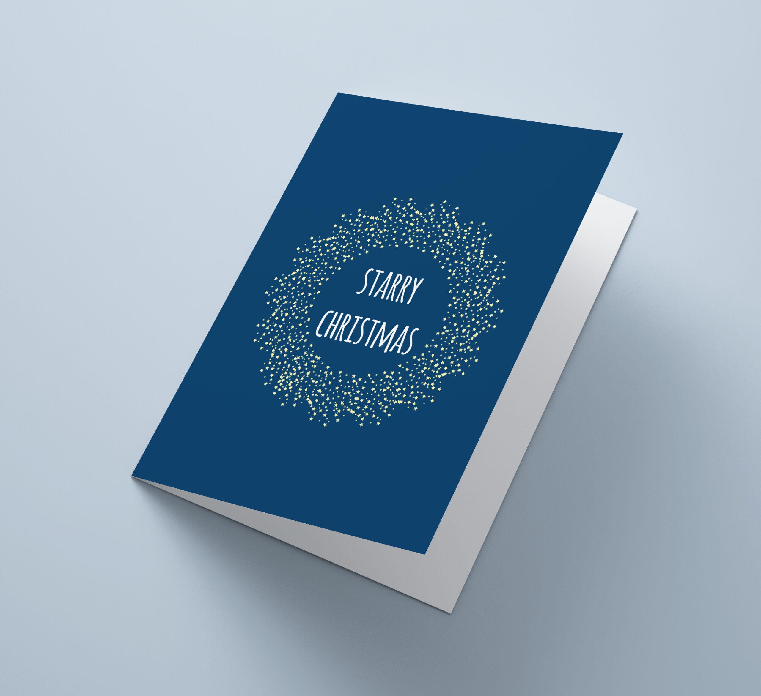 Blue Starry Christmas