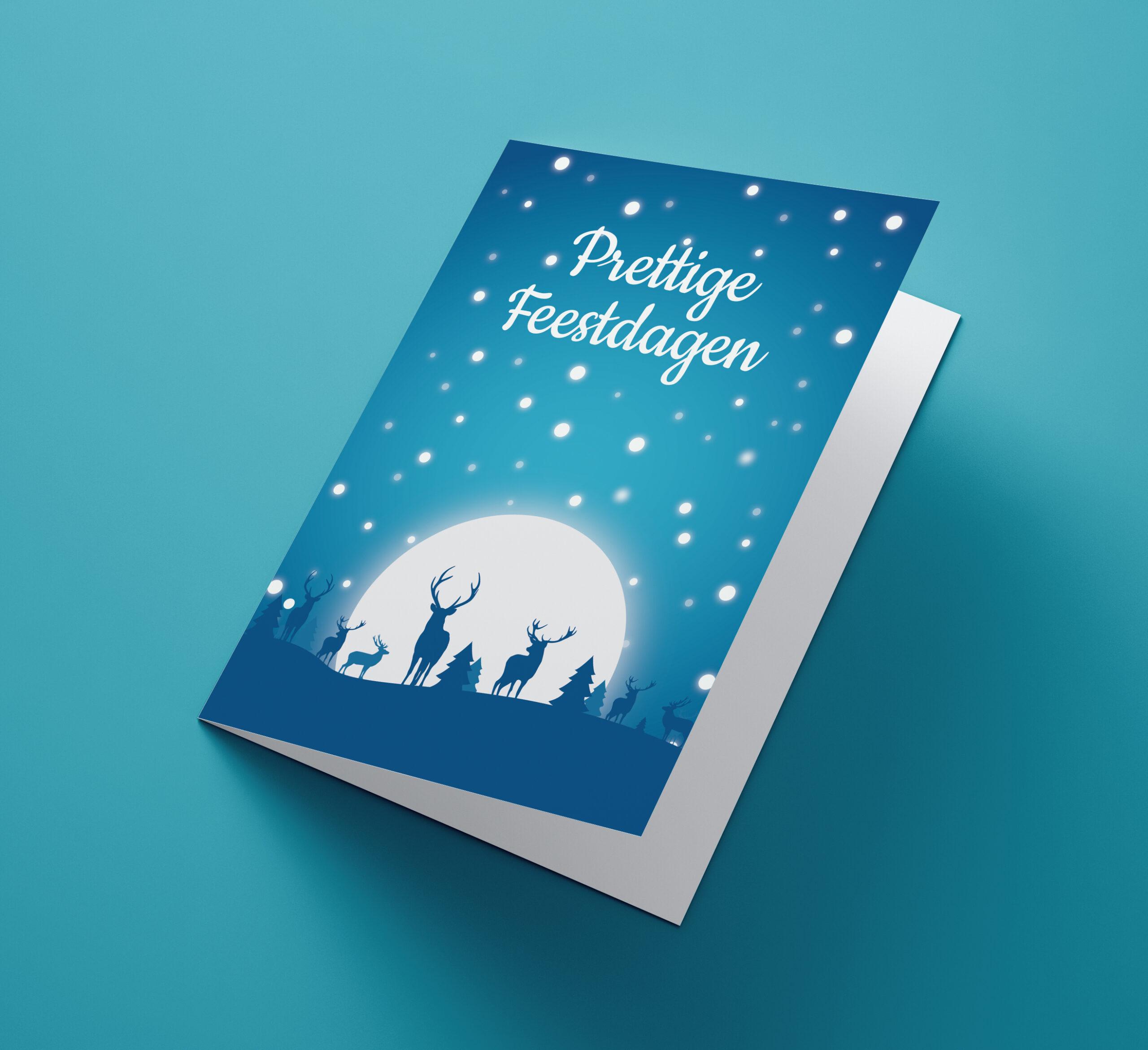 Iceblue Reindeer Moon