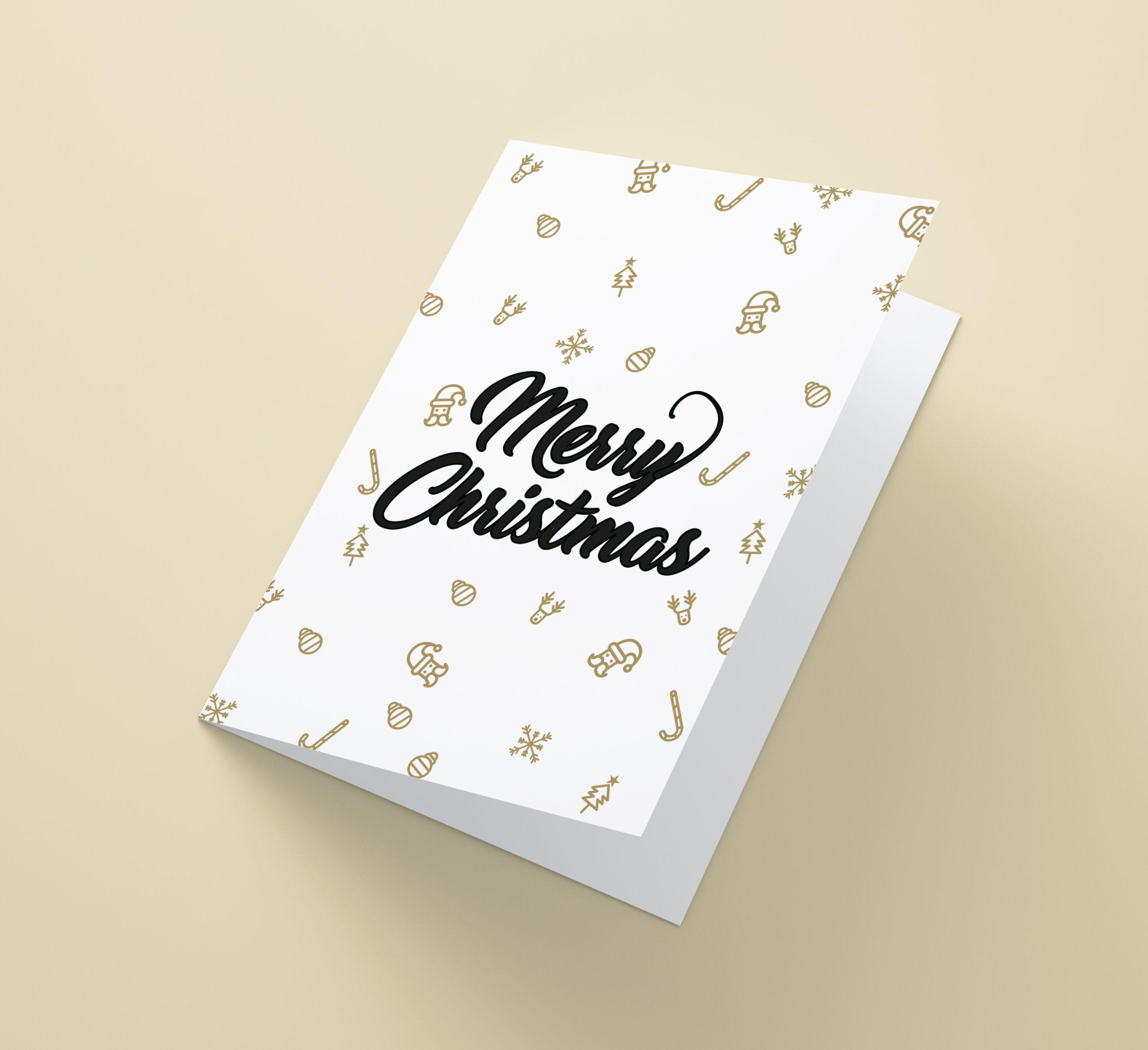 Merry Christmas Met Gouden Ornamenten