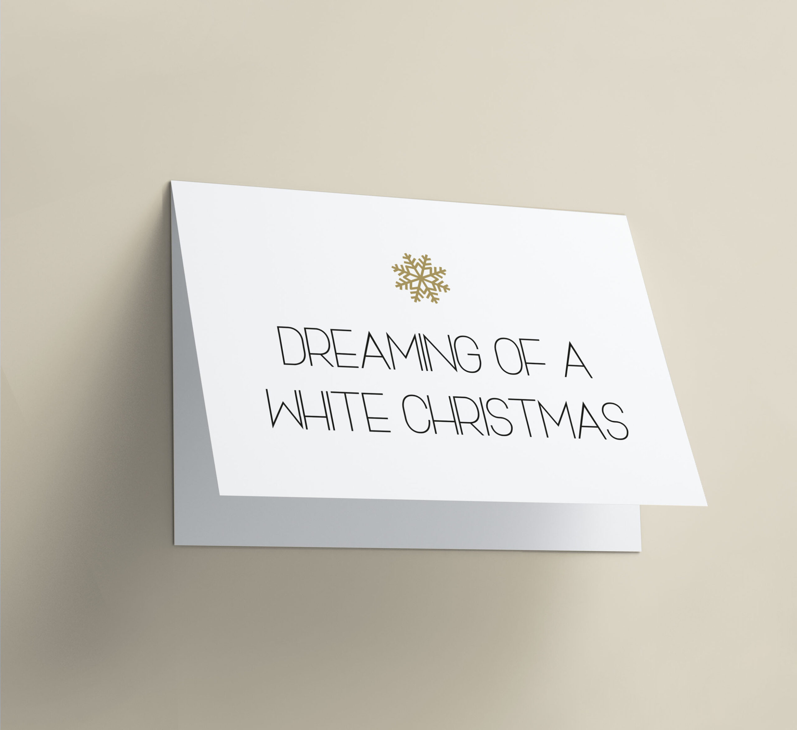Dreaming Of A White Christmas Snow