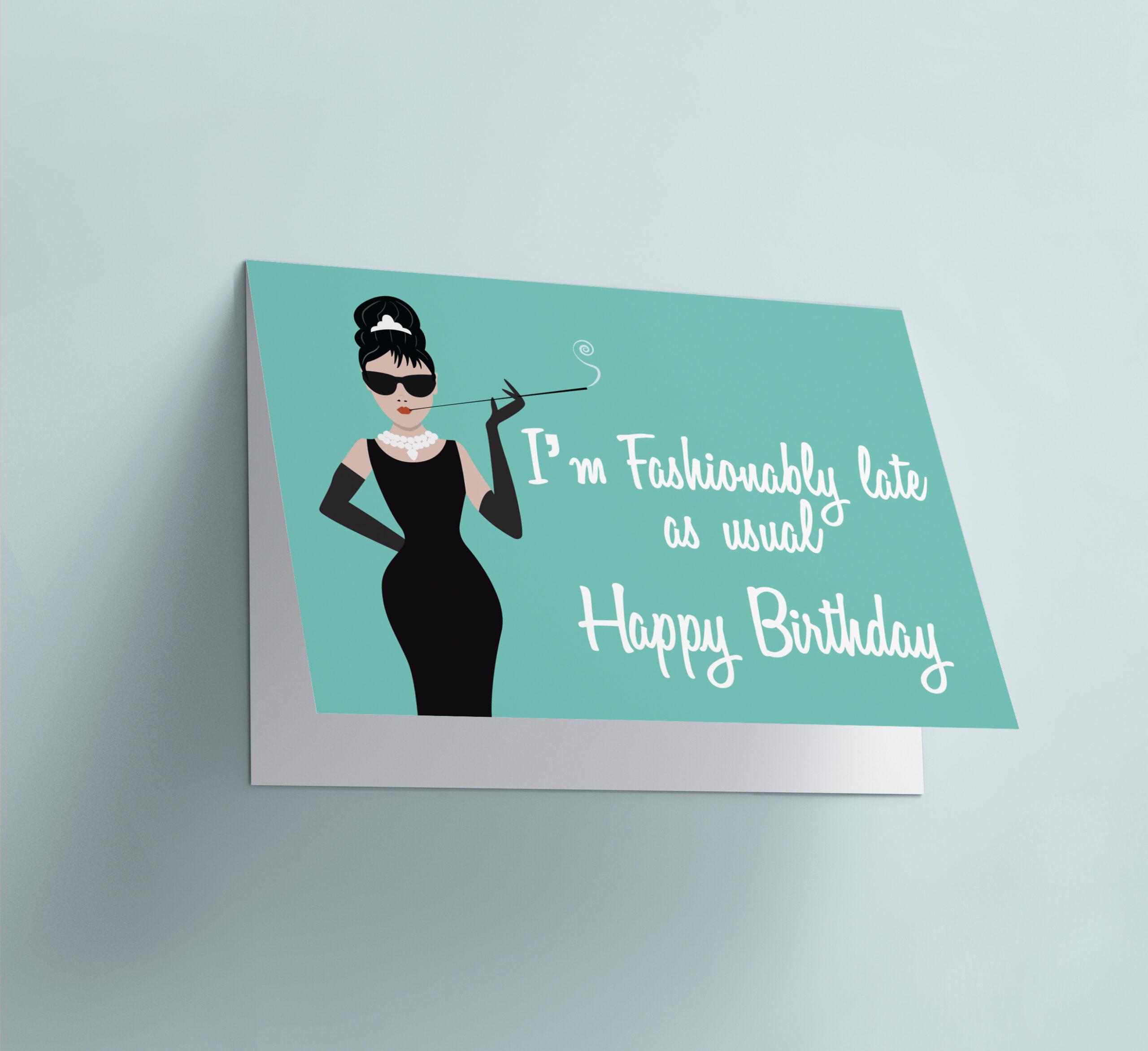Fashionably Late - Audrey Hepburn