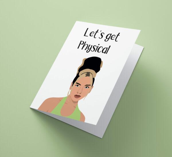 Let's Get Physical Dua Lipa Card